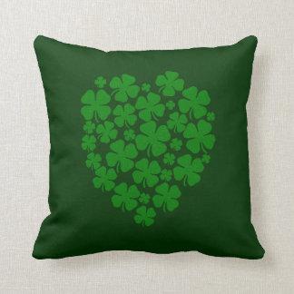 Four Leaf Clovers Heart Shape - Cushion