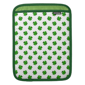 Four leaf clovers in green fade sleeves for iPads
