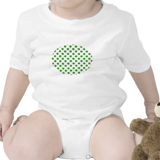 Four leaf clovers in green fade baby bodysuits