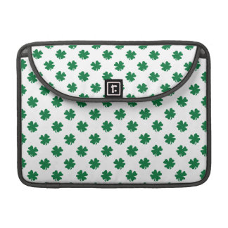 Four leaf clovers in green MacBook pro sleeve