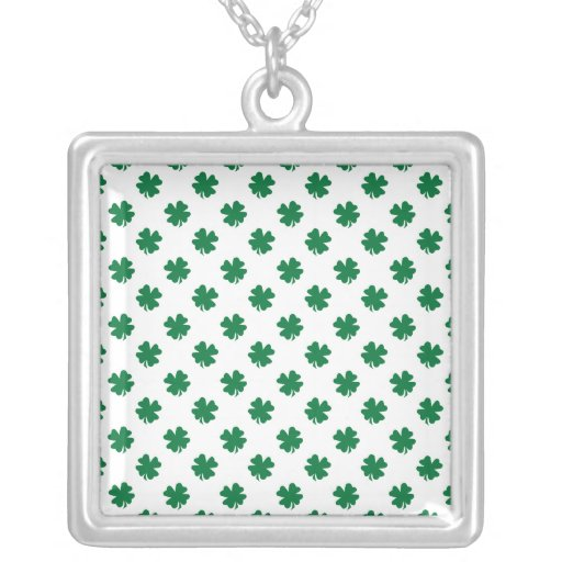 Four leaf clovers in green necklaces