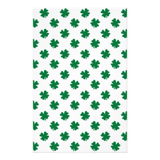 Four leaf clovers in green stationery