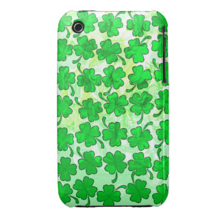 FOUR LEAF CLOVERS iPhone 3 Case-Mate Case
