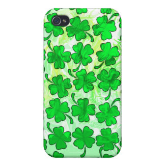 FOUR LEAF CLOVERS iPhone 4/4S COVER