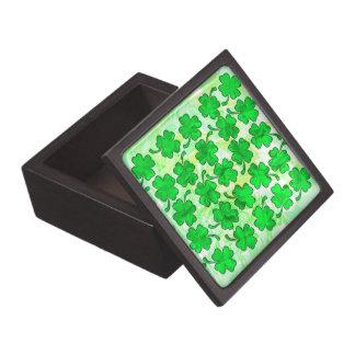 FOUR LEAF CLOVERS Trinket Box Premium Gift Boxes