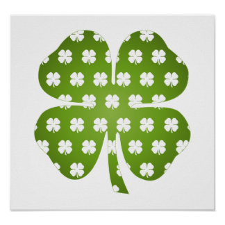 Four Leaf Luck Poster