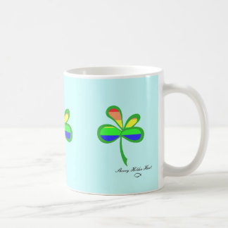 Four Leaf Rainbow Clover 2 Coffee Mugs
