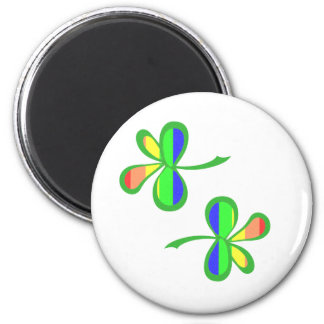 Four Leaf Rainbow Clover 2 Refrigerator Magnets