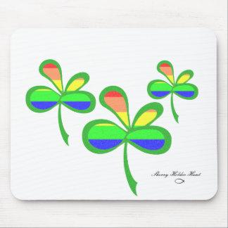 Four Leaf Rainbow Clover 2 Mouse Pads