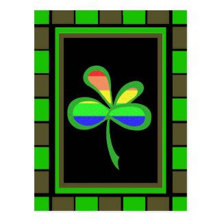 Four Leaf Rainbow Clover 2 Post Cards
