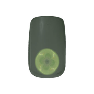 Four Leafed Clover Fractal Minx® Nail Art