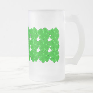 Four Leafed Clover Green Garland Pattern Mug