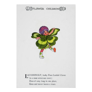 Four-Leafed Clover Poster