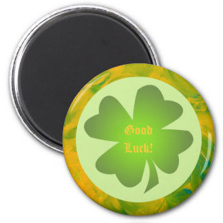 Four Leafed Clover Round Magnet