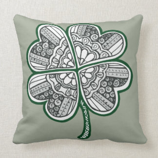 Four Leave Clover 1 Throw Pillow