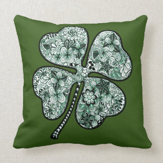 Four Leave Clover 2 Throw Pillow