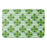 Four Leaves Clover St. Patrick's Day Pattern Bathroom Mat