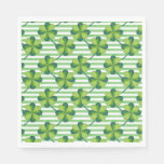 Four Leaves Clover St. Patrick's Day Pattern Napkin