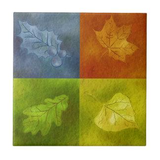 Four Leaves for Four Seasons Ceramic Tile