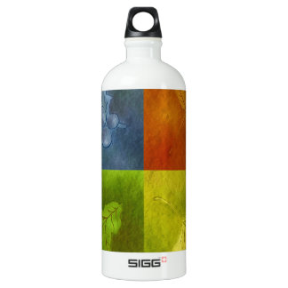 Four Leaves for Four Seasons Water Bottle
