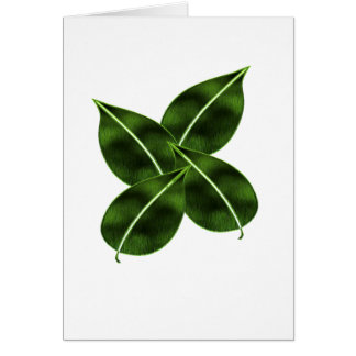 Four Leaves Greeting Card