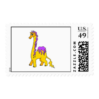 Four Legged Alien Animal Postage Stamps