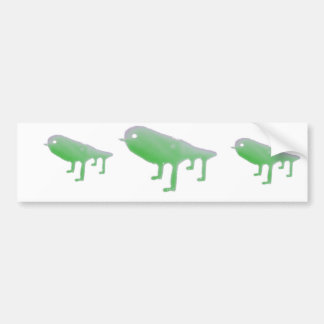 Four legged green slime bird bumper sticker