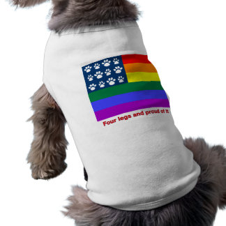 Four Legs and Proud Of It (white paws) Tee