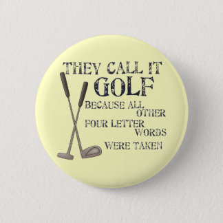 Four Letter Word Pinback Button