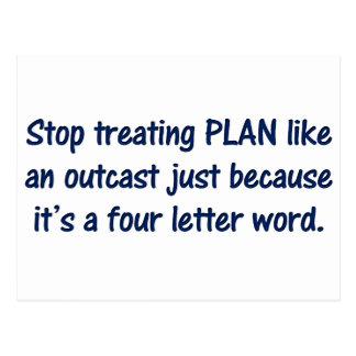 Four Letter Words Postcard