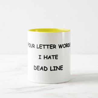 FOUR LETTER WORDS Two-Tone COFFEE MUG