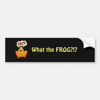 Four-lettered Frog Bumper Sticker