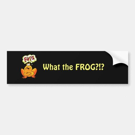 Four-lettered Frog Car Bumper Sticker