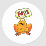 Four-lettered Frog Classic Round Sticker