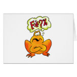 Four-lettered Frog Greeting Card