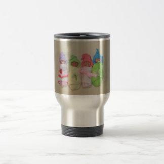 Four Little Babies: Polymer Clay Sculptures Travel Mug