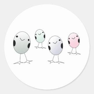 Four Little Birds Classic Round Sticker