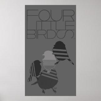 four little birds poster