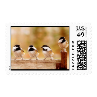 four little chickadees stamps