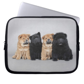 Four little Chow chow puppies Laptop Sleeve