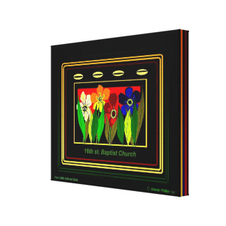 FOUR LITTLE COLORED GIRLS CANVAS PRINT