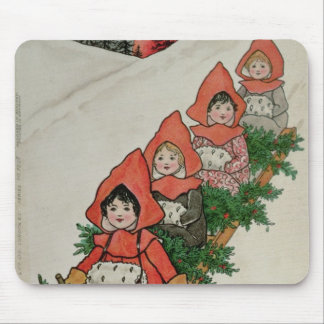 Four Little Girls on a Sledge Mouse Pad
