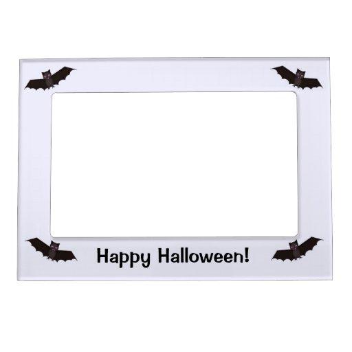 Four Little Halloween Bats Picture Frame Magnet