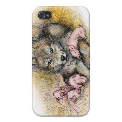 FOUR LITTLE PIGGIES iPhone 4/4S COVER