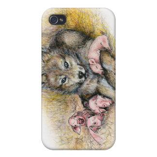 FOUR LITTLE PIGGIES iPhone 4 COVER