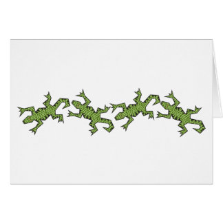 Four Lizards Card