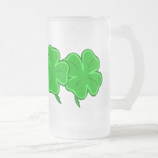 Four Lucky Clover Shamrocks Mug