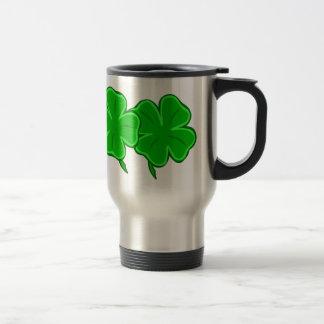 Four Lucky Green Shamrocks Mug