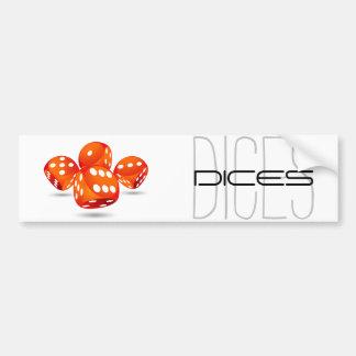 four magic dices bumper sticker