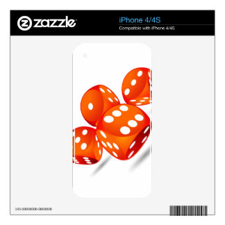 four magic dices iPhone 4 decal